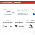 Preisträger 2021 - financeAds Performance Awards