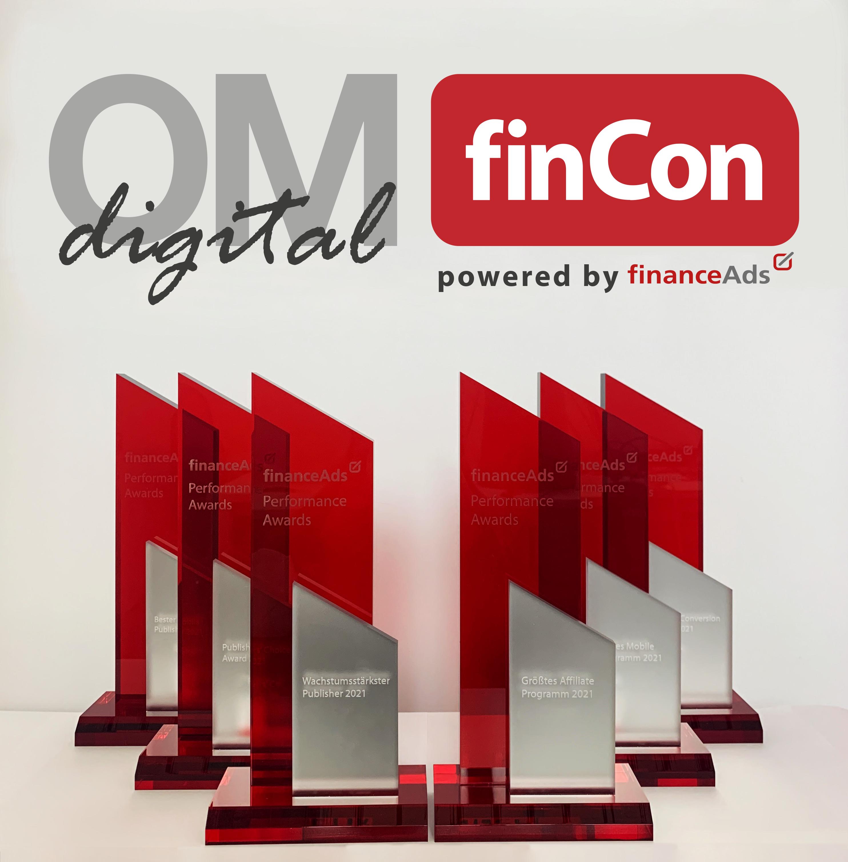 OMfinCon-digital 2021 - financeAds Performance Awards